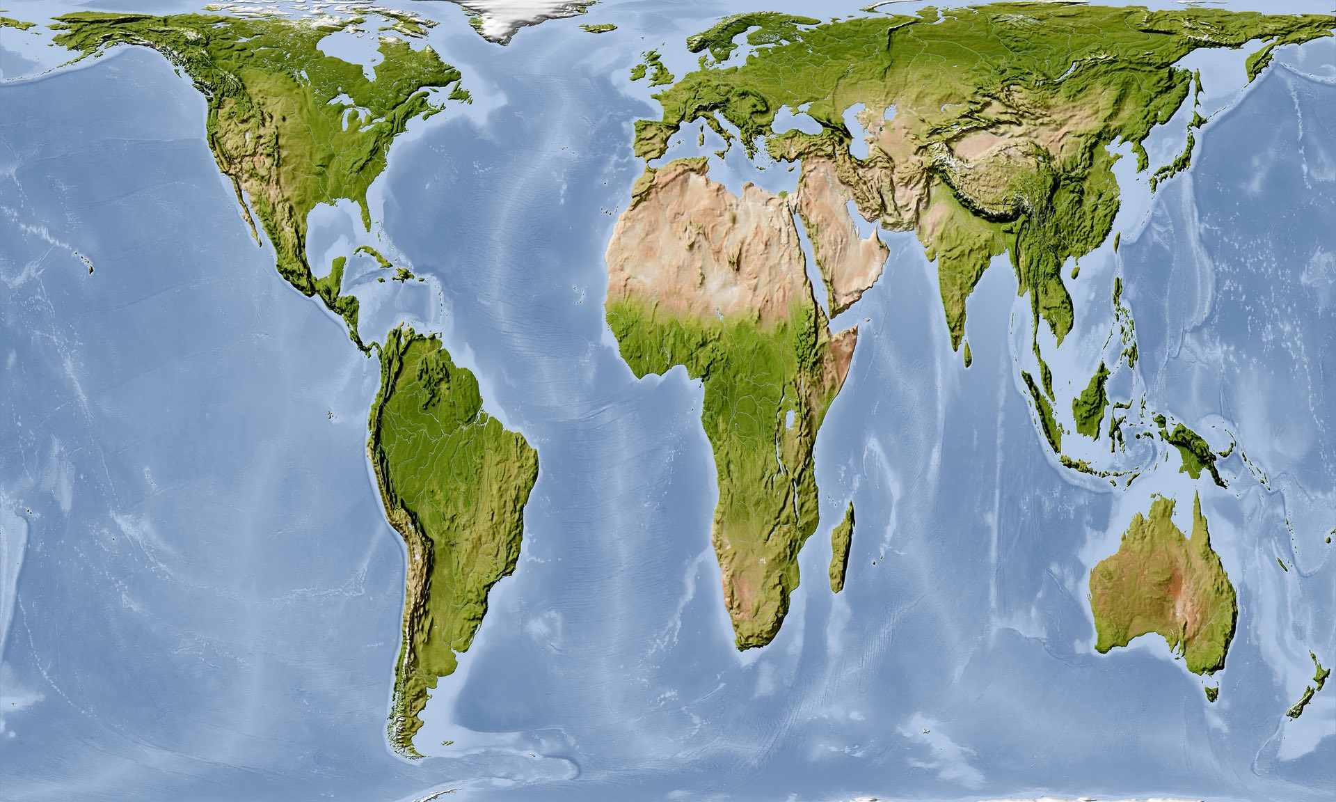 MessageBase 5.0 - Undistorted Map of the Earth